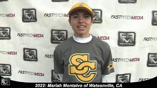 2022 Mariah Montalvo Catcher and Third Softball Skills Video - Suncats