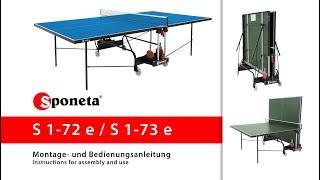 Sponeta S 1-72 e / S 1-73 e - Montageanleitung Tischtennistisch / Instructions for assembly and use