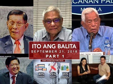 [UNTV]  UNTV: Ito Ang Balita (September 21, 2018) PART 1