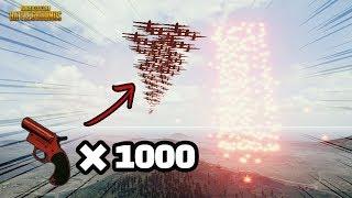 SUB) 대박! 플레어건 1000개 쐈더니 역대급 사건!!What happens when you shoot 1000 flare guns??