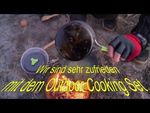 TTLife Camping Geschirr Outdoor Kochset