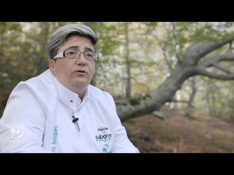 La cocinera agredana aboga por los sabores del bosque.
