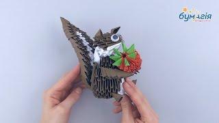 """Набор для творчества ЗD оригами """"Белка с клубникой"""" от компании Интернет-магазин """"Радуга"""" - школьные рюкзаки, канцтовары, творчество - видео"""