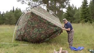 Как сделать навес для рыбалки из стеклоарматуры