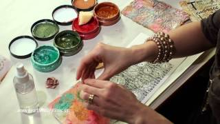 Creating Shimmery Mixed Media Backgrounds