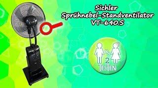 Test Sichler Standventilator mit Sprühnebel VT-640S | Unboxing, Montage, Funktionstest | von 2testen