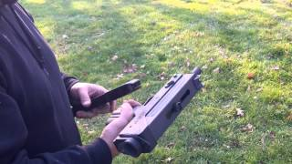 MAC 10 Full Auto Sub-Machine Gun Shooting in the Backyard