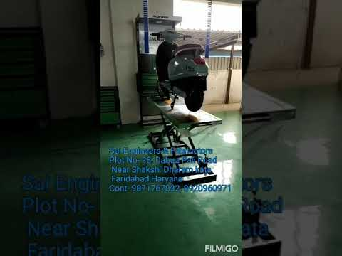 SEF Hydraulic Motorcycle Lift
