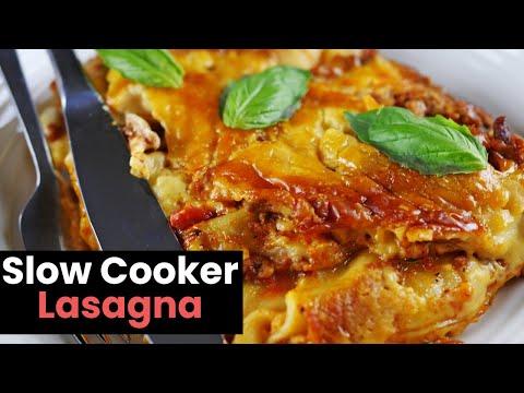 Deliciously Easy Slow Cooker Lasagna