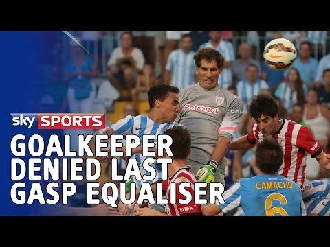 Thủ môn Bilbao đánh đầu đẳng cấp tung lưới đối phương phút bù giờ nhưng ko được công nhận, ếu hiểu vì sao luôn