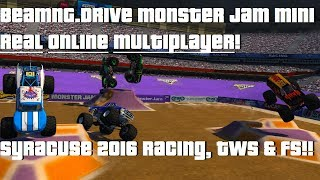 BeamNG.Drive Monster Jam Mini; REAL Multiplayer RACING, TWS & FREESTYLE!