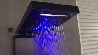 Luxury Bathroom Shower Panel System Spa Massage Jets Bathtub Faucet