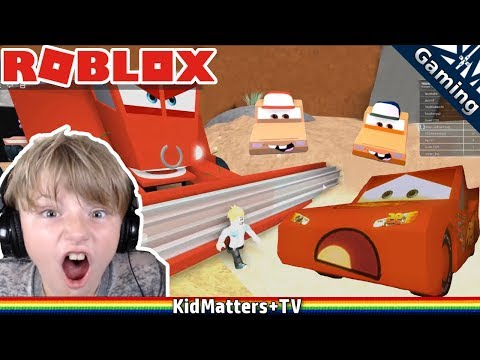 Roblox CARS 3 obby - SAVE LIGHTNING MCQUEEN!! Adventure Obby #2 [KM+Gaming S01E56]