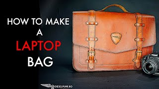 How To Make A Leather Laptop Bag - Tutorial And Pattern Download