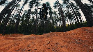 SHERWOOD PINES DIRT JUMPS FROM A FPV DRONE фото