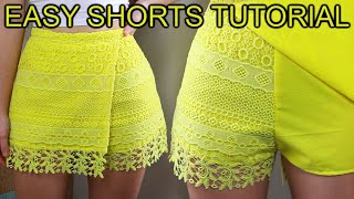 HOW TO SEW A SHORTS (COULATS) | DIY SHORTS | WRAP-AROUND SHORTS EASY TUTORIAL