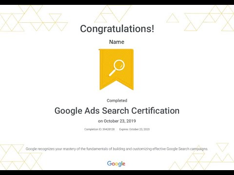 Google Ads Search Certificate Exam Practice | New Updates ...