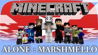 Alone Marshmello Minecraft Animation Самые лучшие видео - Skin para minecraft pe de marshmello