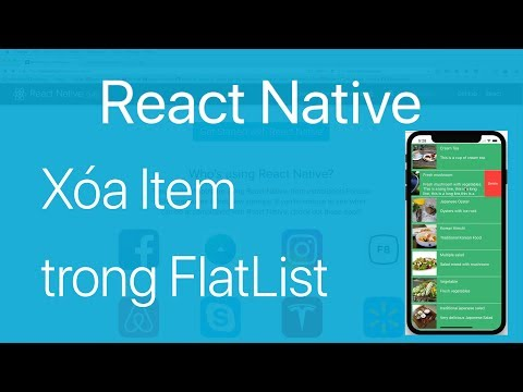 19-FlatList#3.Trượt để xóa một Item trong FlatList