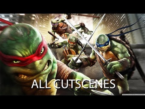 TEENAGE MUTANT NINJA TURTLES Out of the Shadows All Cutscenes (Game Movie) 60FPS
