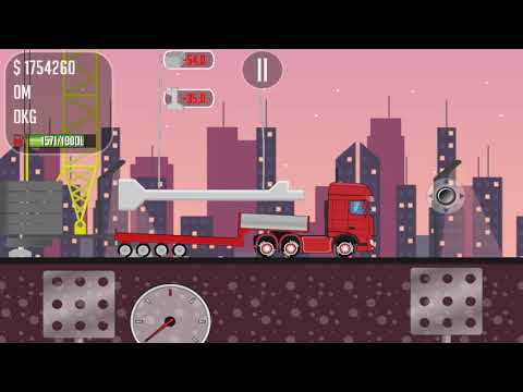 Game Trucker Jo transport concrete structures to the construction site of the launch pad