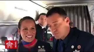 Santiago-Iquique: Papa celebra casamento a bordo