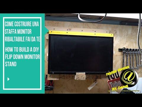 Come costruire una staffa monitor ribaltabile fai da te how to build diy foldup monitor stand/mount