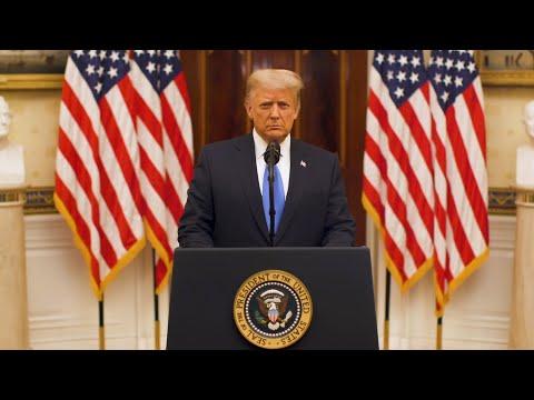 """טראמפ בנאום הפרידה: """"אנחנו מתפללים להצלחת הממשל החדש"""""""