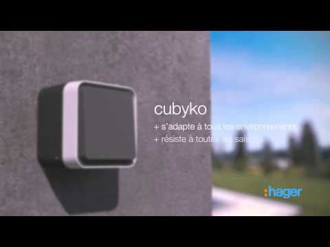 cubyko Prise double horizontale 2P+T saillie gris IP55