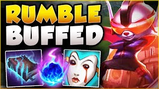WTF? RIOT 100% GAVE RUMBLE TOO MUCH DMG! FLAMETHROWER RUMBLE SEASON 8 TOP GAMEPLAY League of Legends