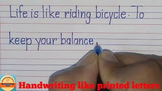 Print Writing Practice:how To Write Printed Letters Handwriting|handwriting For Beginners.