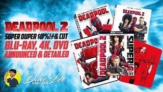 DEADPOOL 2 - Super Duper Cut Blu-ray, 4K, DVD Announced & Detailed