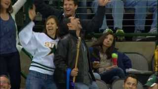 Suzy sings Living On A Prayer at Dallas Stars Game
