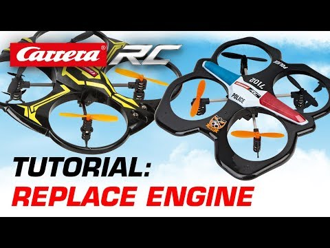 Carrera RC Quadrocopter - Replace Engine (Police & X1)