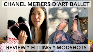 CHANEL Ballet Flats Metiers DArt 2020 Collection 4-hour Wearing Review, Vlog & So Many Modshots