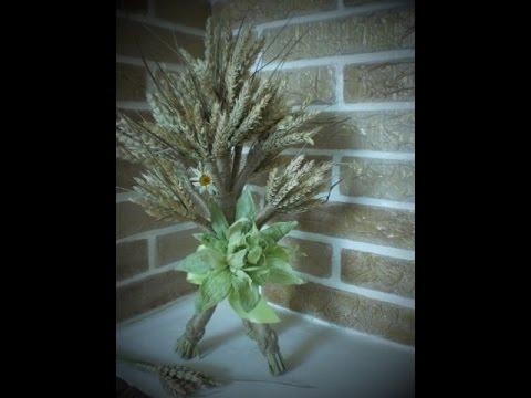 Дидух из колосков пшеницы-Didukh from wheat cones