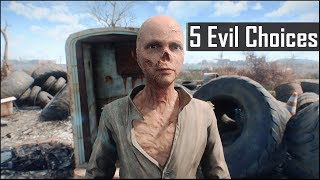 Fallout 4: 5 Most Evil Things You Can Do and May Have Missed in the Wasteland