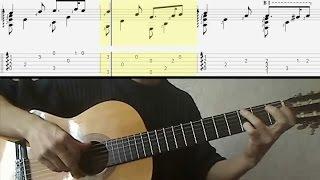 "Greensleeves ""Зелёные рукава"" - Видео-ноты для гитары"