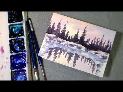 Lets Paint A Winter Pond Free Watercolor Tutorial