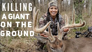 NO Blind Monster Buck Bow kill by Sarah Bowmar | Bowmar Bowhunting |