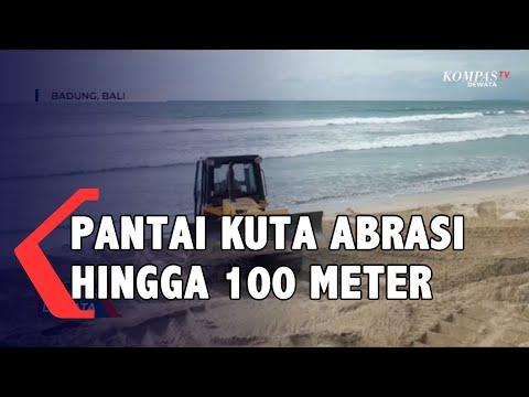 abrasi di pantai kuta hingga meter apa penyebabnya