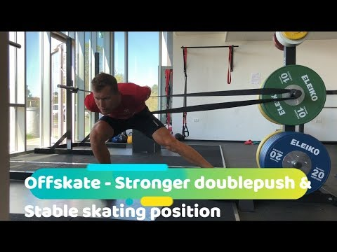 Skating exercises  - Powerful doublepush & stable skating position