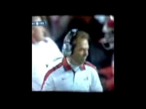 Nick Saban gets mad. Alabama vs. LSU 11/5/2011