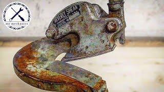 Восстановление рычажных ножниц по металлу Beverly 1930-х годов