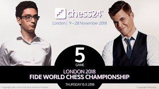 Caruana-Carlsen, Game 5 - 2018 FIDE World Chess Championship