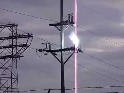 Crazy Electric Power Line Explosion