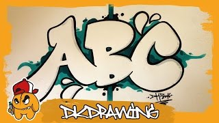 Graffiti Alphabet Tutorial - How to draw Graffiti Bubble Letters A to C