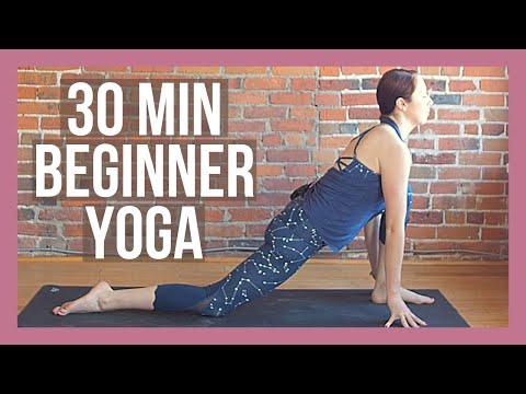 30 min Beginner Yoga - Full Body Yoga Stretch No Props Needed