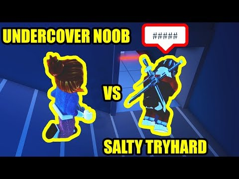 UNDERCOVER NOOB makes TRYHARDS RAGE QUIT    | Roblox