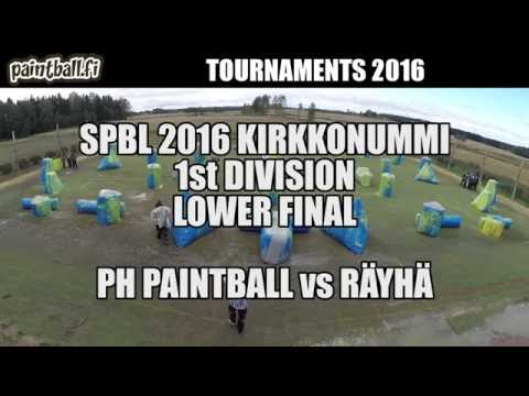PH Paintball vs Räyhä - Lower Final - SPBL2016 Kirkkonummi